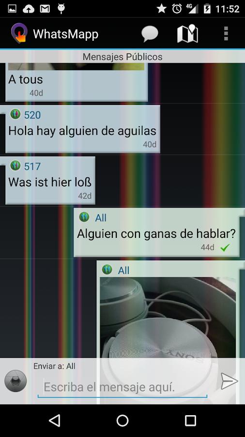 WhatsMapp Anonymous - screenshot