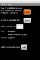Screenshot of Toronto Free WiFi