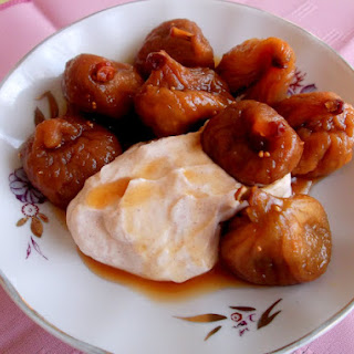 Maple Poached Figs with Spiced Goat Cheese