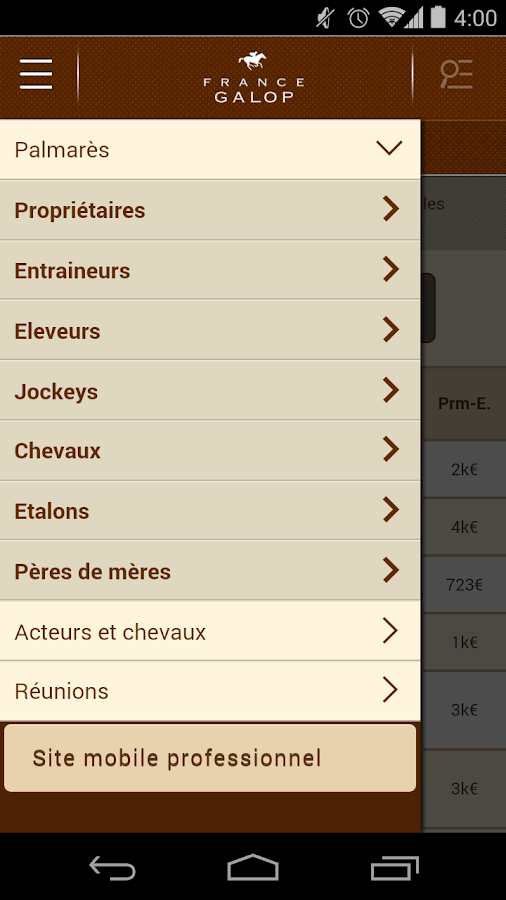 France Galop- screenshot