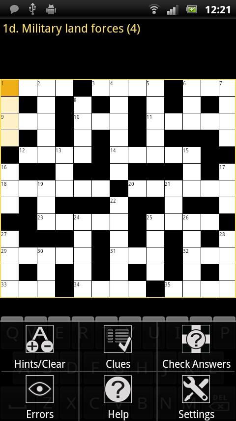 Crossword Puzzle King Lite- screenshot
