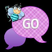 GO SMS - Teal Purple Bee