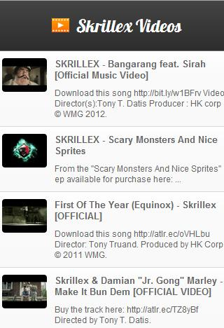 Skrillex Videos - screenshot