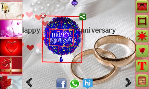 Wedding Anniversary Card Maker Screenshot Thumbnail