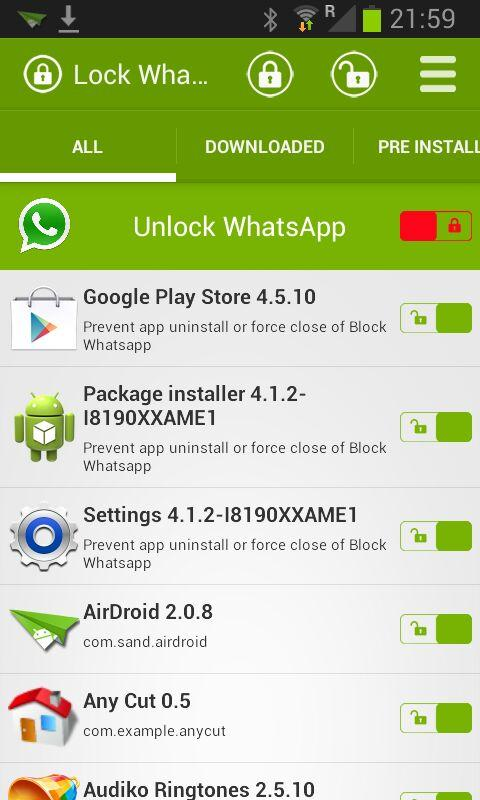 Lock Whatsapp PRO - screenshot