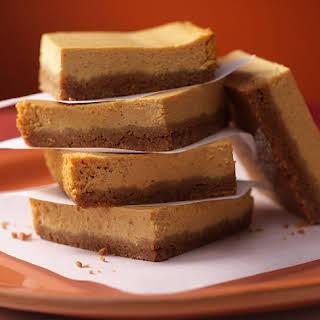 Pumpkin Cheesecake Slices.