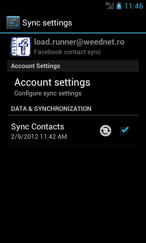 UberSync Facebook Contact Sync - screenshot