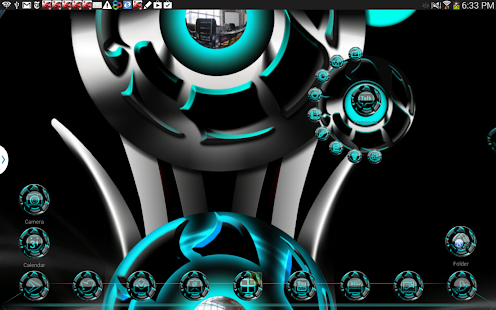 Next 3D theme Cyan Twister