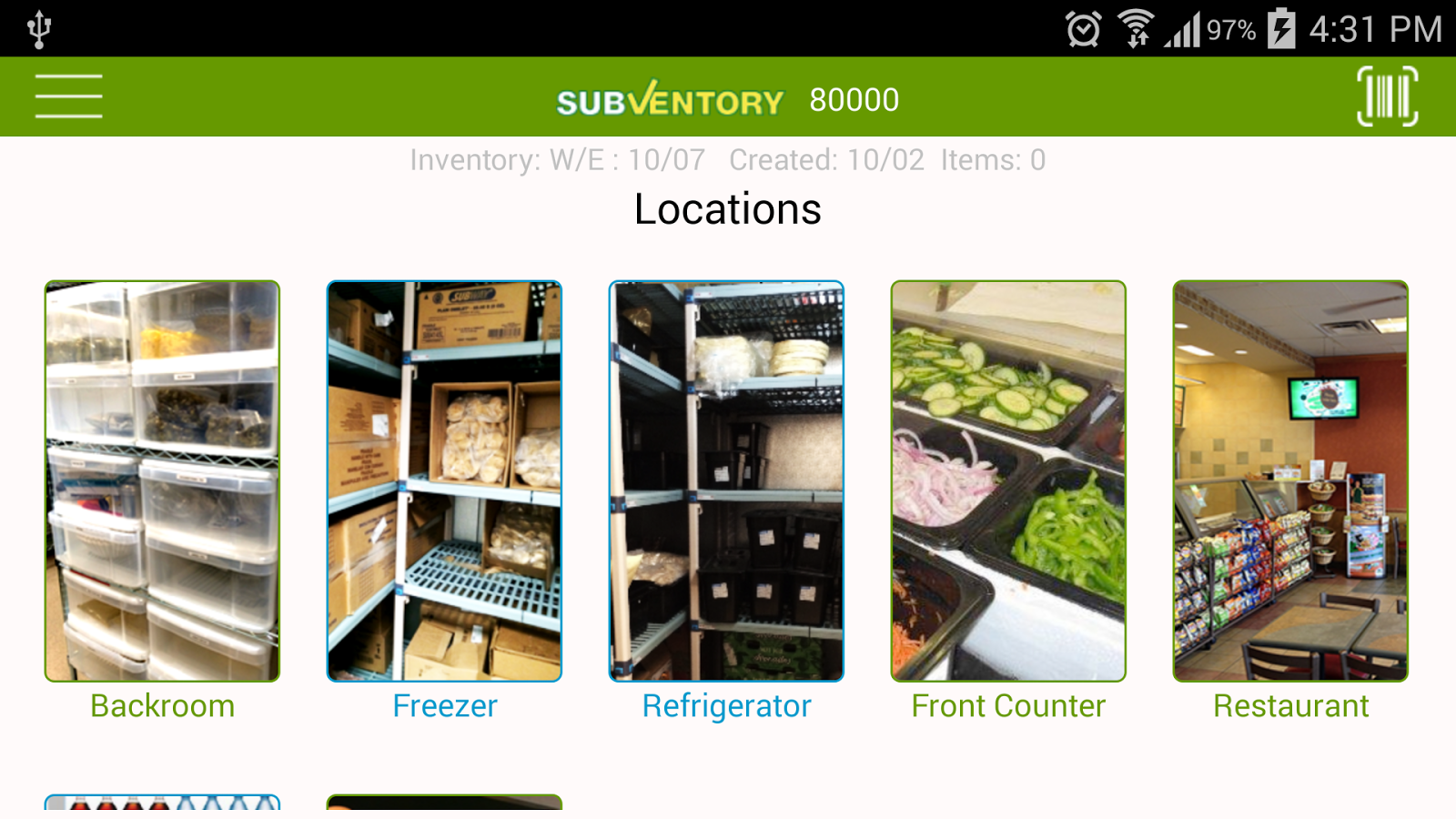 SubVentory- screenshot