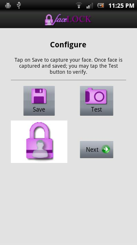 FaceLOCK - screenshot