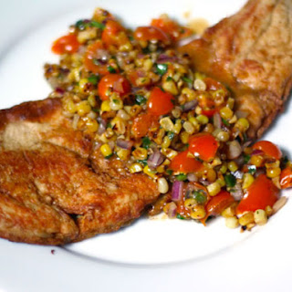 Crispy Fish with Charred Corn and Sun Gold Salsa