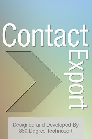 Contacts Backup Export
