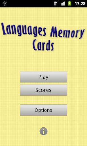 Languages Memory Cards