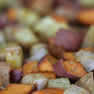 Rosemary Roasted Apples and Sweet Potatoes
