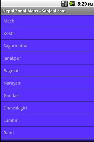 Nepal Zonal Maps- screenshot
