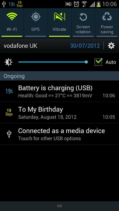 Battery Percentage Pro- screenshot
