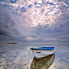 Relentless by Hendri Suhandi - Landscapes Cloud Formations ( clouds, bali, karang beach, sanur, reflections, travel, beach, sunrise )