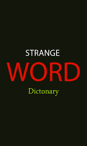 Strange Word Dictionary