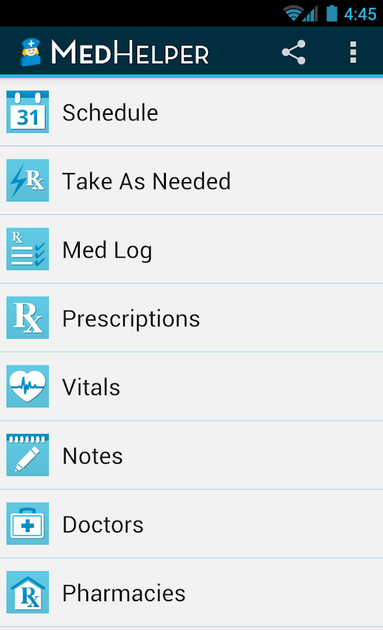 Med Helper Pro Pill Reminder - screenshot