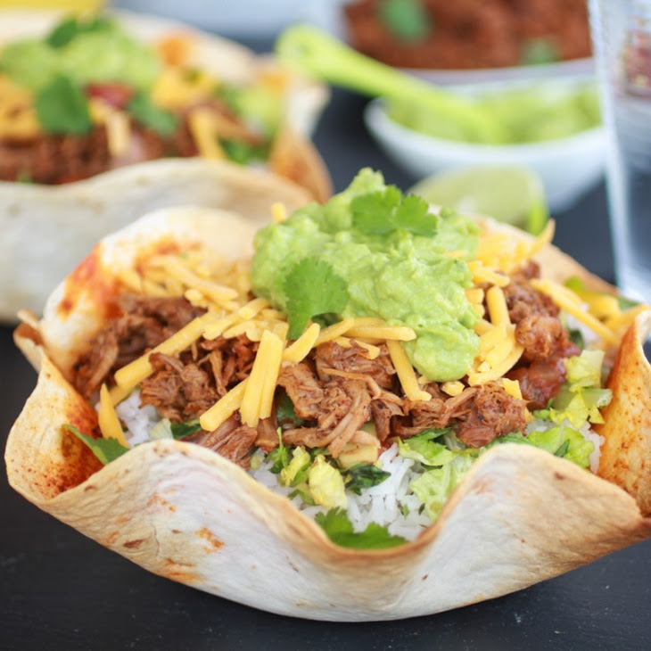 Crockpot Carnitas Tortilla Burrito Bowl