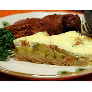 Bread Crust Zucchini Quiche.