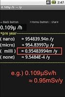 Screenshot of nano,micro,milli convert