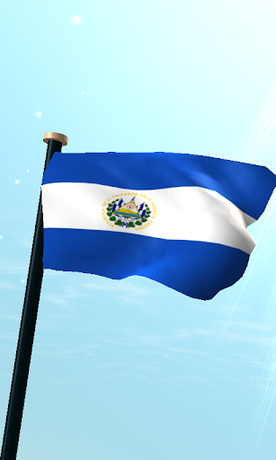 El Salvador Flag 3D Wallpaper