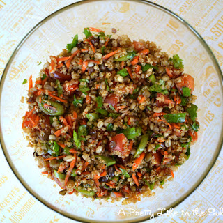Curry Quinoa & Sprouted Bean Salad