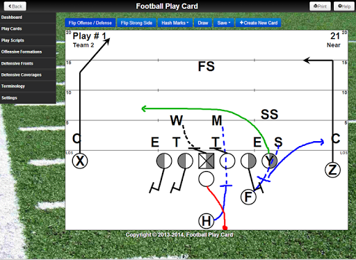 Football Play Card