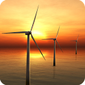 Sunset Windmill Live wallpaper icon