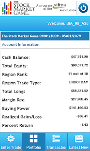 The Stock Market Game- screenshot thumbnail