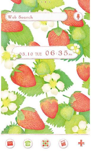 Strawberries & Flowers Theme 1.0.0 Windows u7528 1