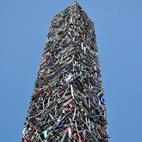 Obelisk Made From Bicycle Parts by Ed Hanson - Buildings & Architecture Architectural Detail ( bike, parts )