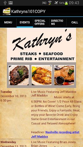 Kathryn's Steaks App