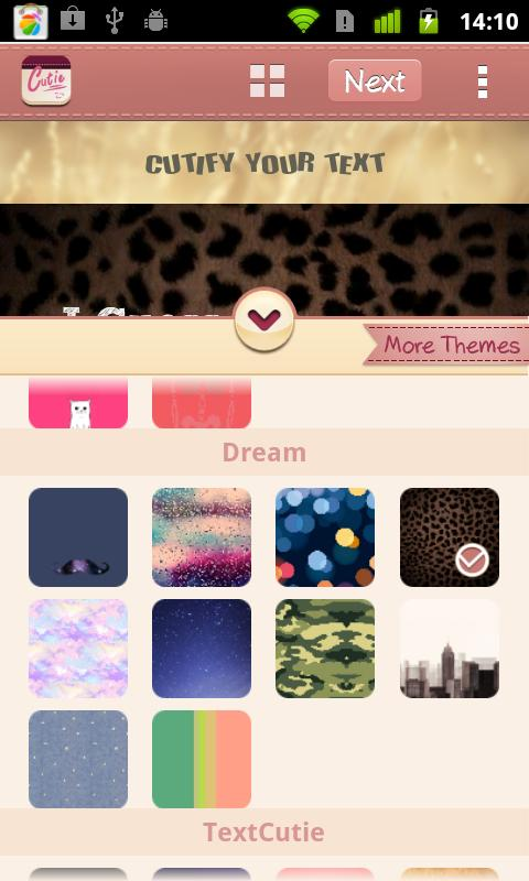 Dream Theme for TextCutie - screenshot
