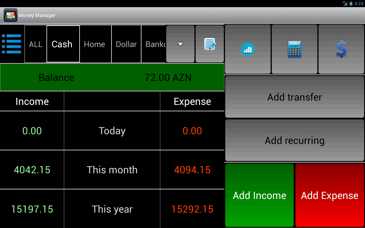 Money Manager - screenshot