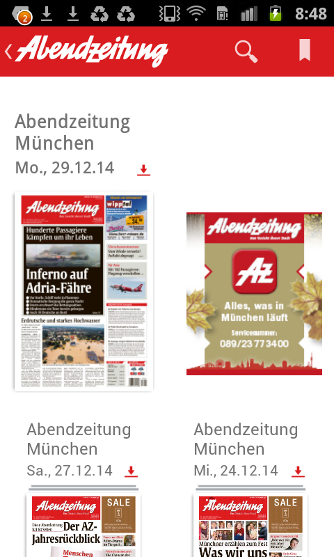 AZ e-Paper- screenshot