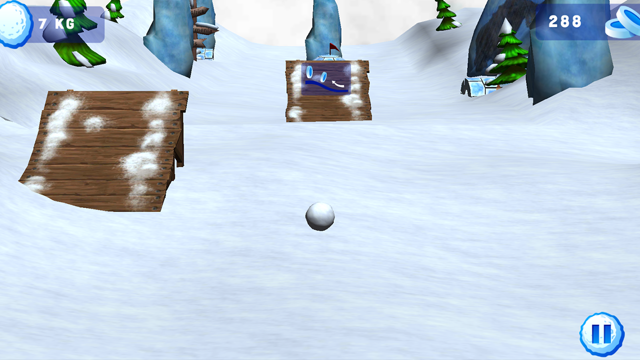 SnowBall Effect Motion Control - screenshot