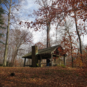 Pavilion in the Fall by Marcia Taylor - Novices Only Landscapes (  )