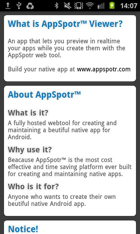 AppSpotr Viewer - screenshot