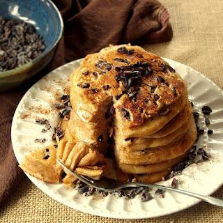 Silken Tofu Cacao Nib Blender Pancakes