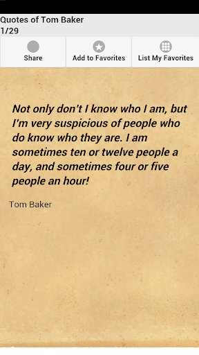 Quotes of Tom Baker