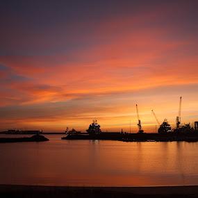 North East Scotland  Harbour by Derek Robinson - Landscapes Sunsets & Sunrises ( sunrise scotland aberdeenshire landscape boats,  )