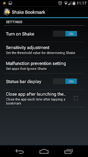 Shake Bookmarks- screenshot thumbnail