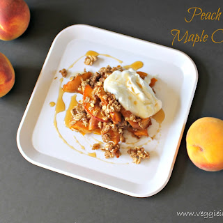 Warm Peach Crisp with Maple Coconut Whip