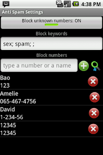 Anti SMS Spam PRO- screenshot thumbnail