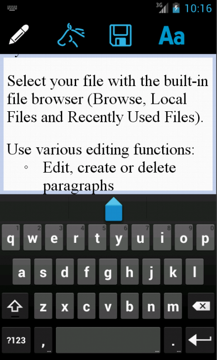 EuroOffice for Android- screenshot