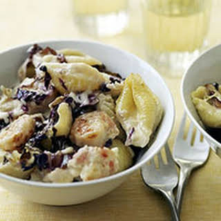 Venetian Mac 'n' Cheese with Radicchio and Shrimp.