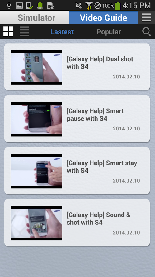 Samsung Galaxy Help- screenshot