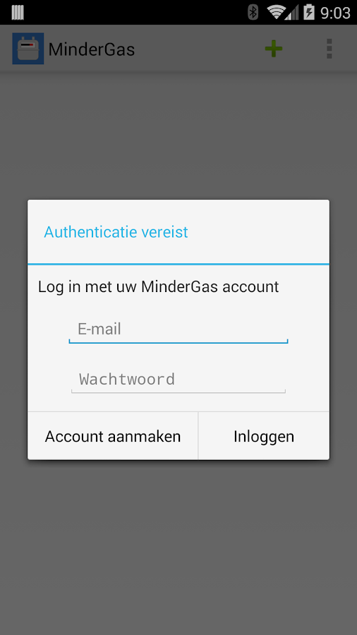 MinderGas- screenshot